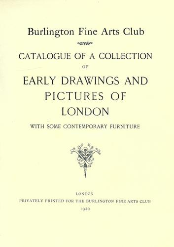 Download Catalogue of a collection of early drawings and pictures of London