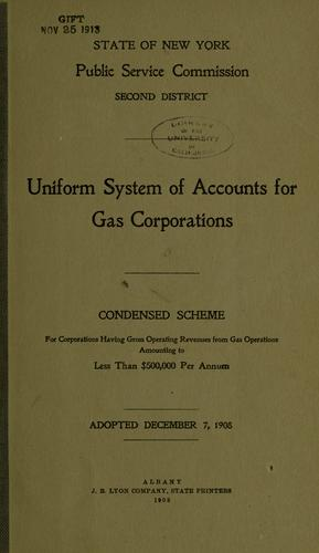 Download Uniform system of accounts prescribed for gas corporations.