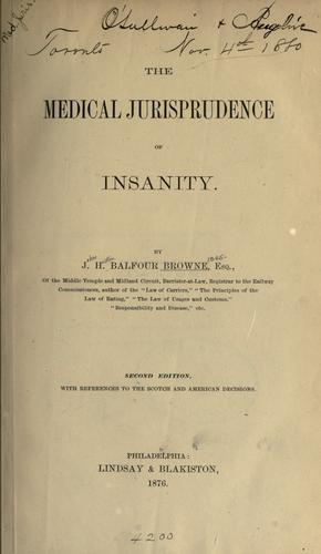 Download The medical jurisprudence of insanity