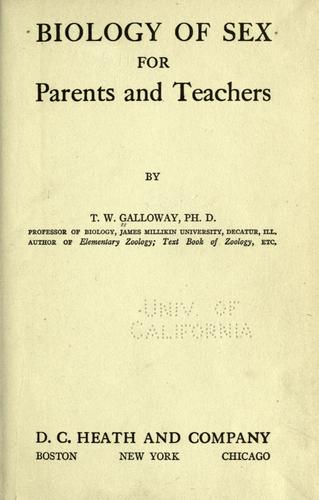 Biology of sex for parents and teachers