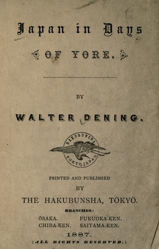 Download Japan in days of yore.