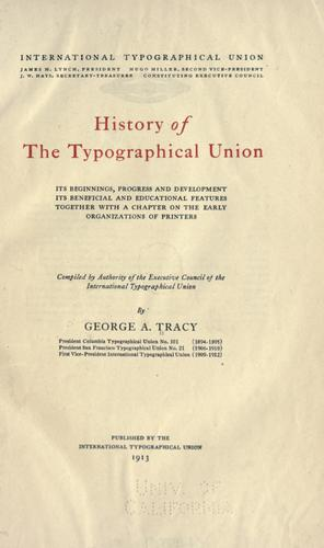History of the Typographical union