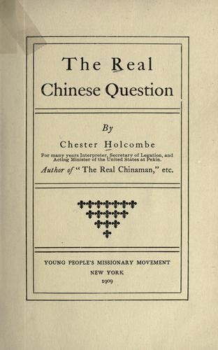 Download The real Chinese question