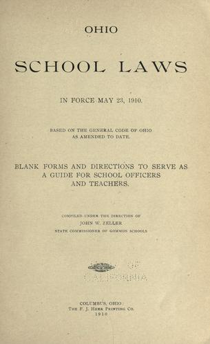 Download Ohio school laws in force May 23, 1910.