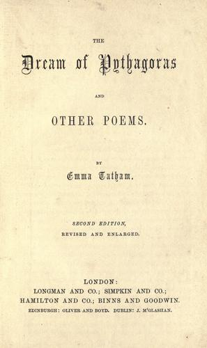 The dream of Pythagoras and other poems