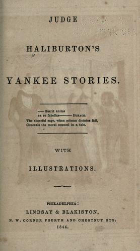 Judge Haliburton's Yankee stories …