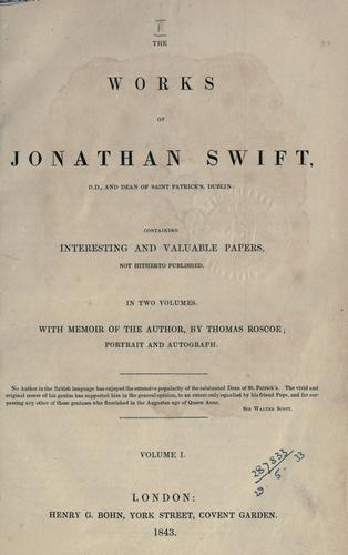 The works of Jonathan Swift.