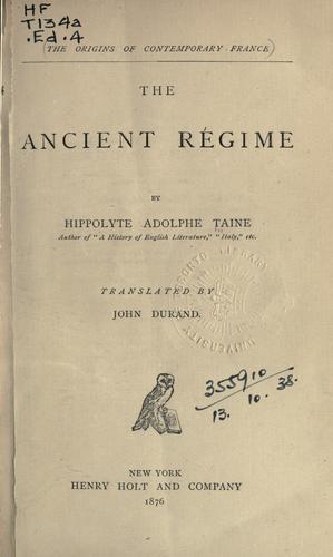 Download The ancient régime