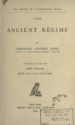 The ancient régime.