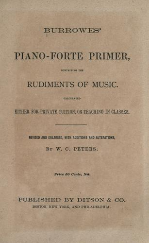 Download Burrowes' piano-forte primer
