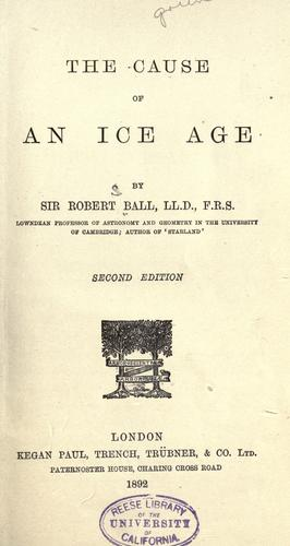 Download The cause of an ice age