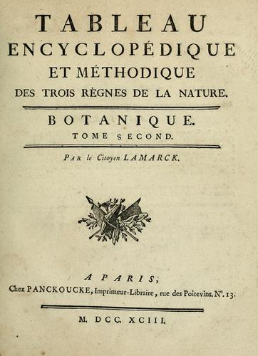 Download Tableau encyclopédique et méthodique des trois règnes de la nature