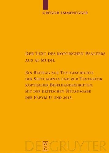 Download Der Text des koptischen Psalters aus al-Mudil