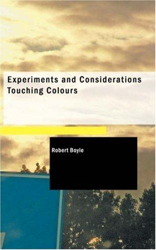 Download Experiments and Considerations Touching Colours