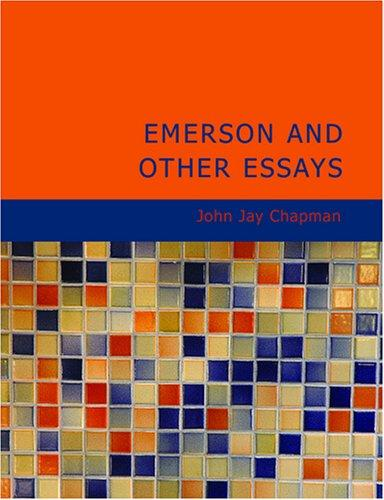 Download Emerson and Other Essays (Large Print Edition)