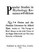 Ossian and the Ossianic literature.