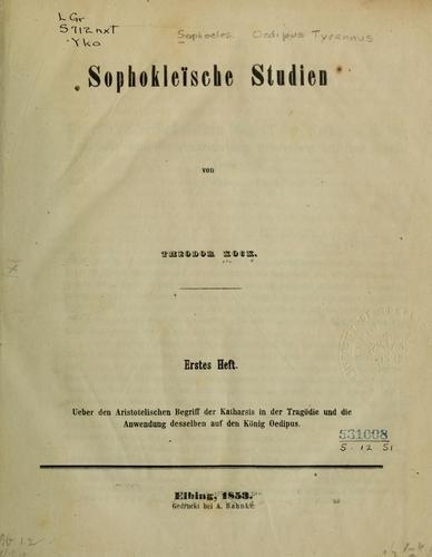 Download Sophokleische Studien