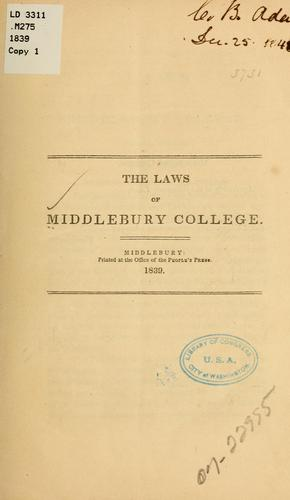 The laws of Middlebury college