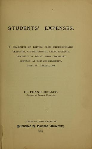 Students' expenses