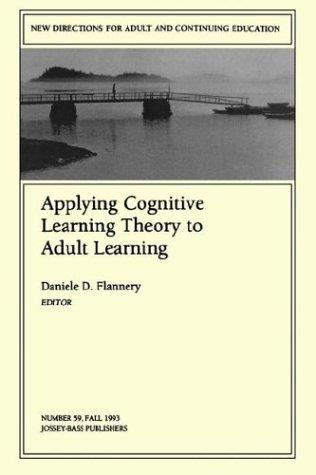 Cover of: Applying Cognitive Learning Theory to Adult Learning by Daniele D. ...