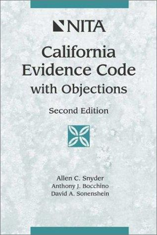 Download California evidence code with objections