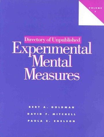 Download Directory of Unpublished Experimental Mental Measures