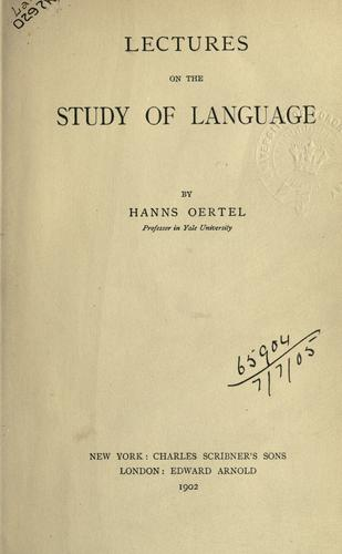 Lectures on the study of language.