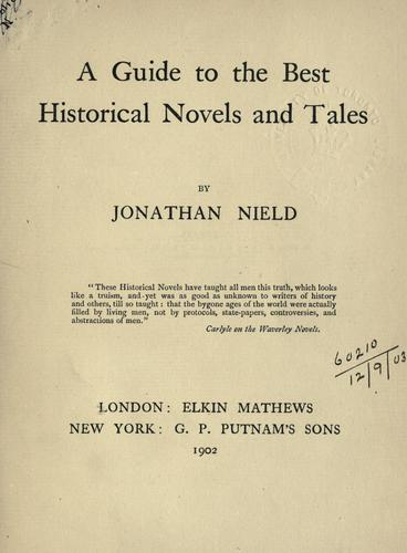 Download A guide to the best historical novels and tales.