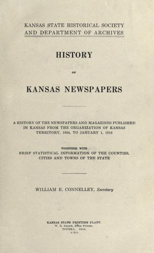 History of Kansas newspapers