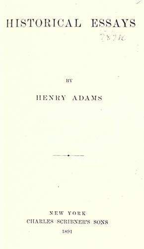 Download Historical essays.