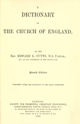 Download A dictionary of the Church of England