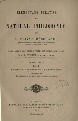 Download Elementary treatise on natural philosophy