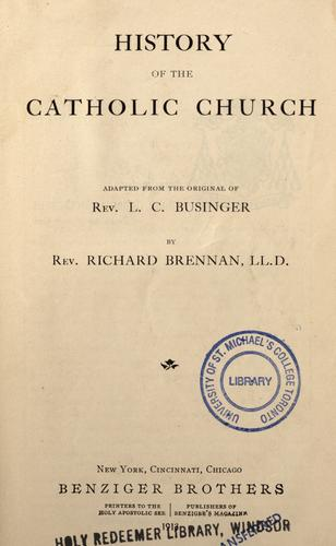 Download A history of the Catholic Church