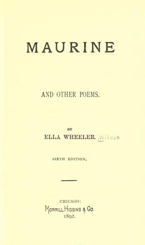 Maurine, and other poems.