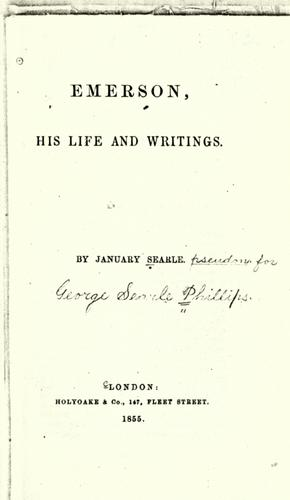Emerson, his life and writings.