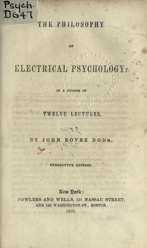 Download The philosophy of electrical psychology.
