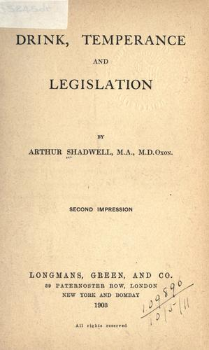Download Drink, temperance, and legislation.