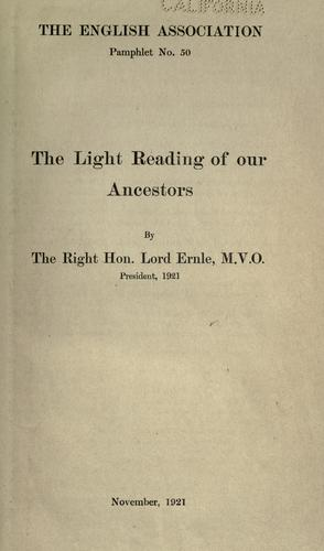 The light reading of our ancestors