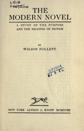 Download The modern novel