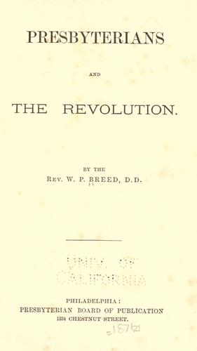 Presbyterians and the revolution