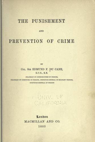 Download The punishment and prevention of crime