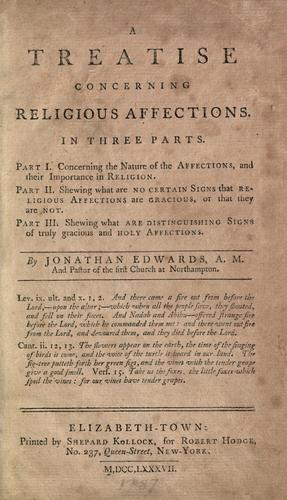 A treatise concerning religious affections.