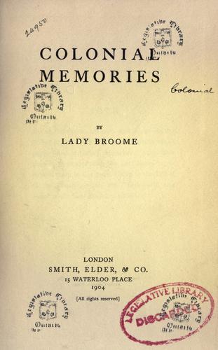 Download Colonial memories