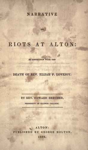 Download Narrative of riots at Alton