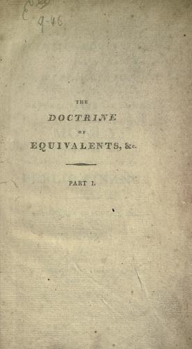 Download The doctrine of equivalents, or, An explanation of the nature, value and power of money