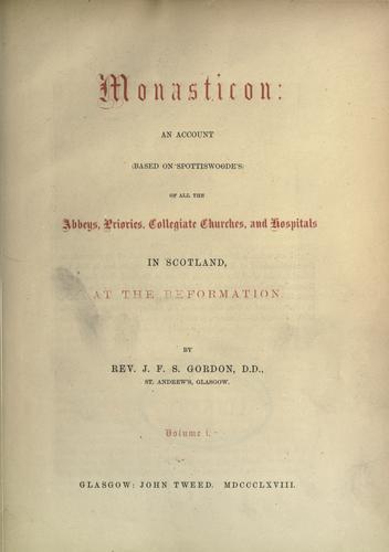 Download Monasticon