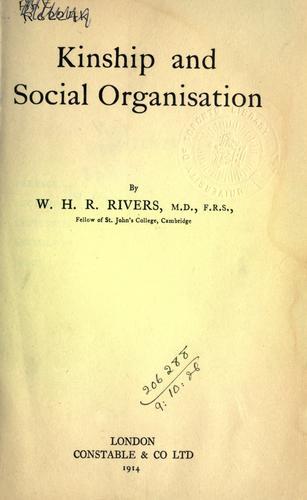 Download Kinship and social organisation.
