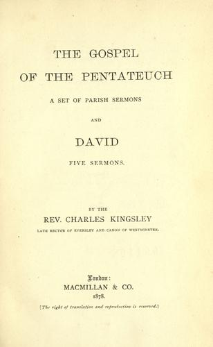 Download The gospel of the Pentateuch, a set of parish sermons