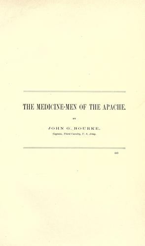 Download The medicine-men of the Apache.