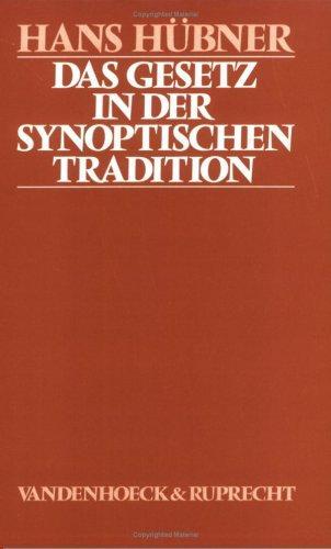 Download Das Gesetz in der synoptischen Tradition